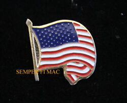 Original Usa Flag Wave Victory Jewelry Hat Pin Us Army Navy Air Force Marines