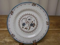 1 Royal Doulton Old Colony Bread Plate Tc1005 England Blue Flowers Brown Leaves