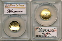 2014 Gold 5 Pcgs Pr70 First Strike Andre Dawson Baseball Hall Of Fame Proof