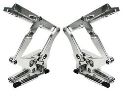 New 67-68 Mustang Polished Solid Frame Hood Hinges And Gas Springs,fiberglass Hood