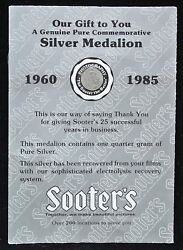1960-1985 Sooterandrsquos Silver Medallion - Recovered From Andnbspfilms By Recovery System