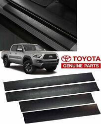 Oem Toyota Tacoma Door Sill Protectors Double Cab Only Fits 2016-2021