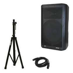 Peavey Dm 115 Dark Matter Pro Audio Dj 700w Powered 15 Speaker W/ Stand And Cable