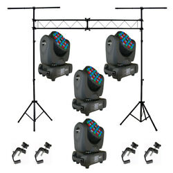 Blizzard 4 Blade Rgbw Moving Head Pack W/ Asc-l001 Stand And 4 Asc-hook Clamp