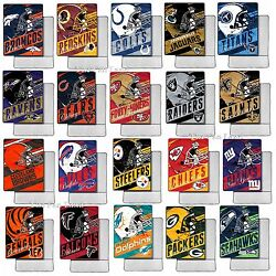 New Nfl Throw Blanket Blankets Foot Pocket Officially Licensed 46 X 60