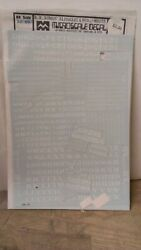 Micro Scale Decals Ho Scale Alphabet And Numbers Rail Road Roman Style White 87-69