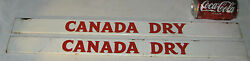 2 Old Canada Dry Ginger Ale Soda Bottle Store Advertising Art Display Sign Usa