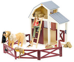 New Only Hearts Club English Horse Wood Wooden Stable 38x15x46cm