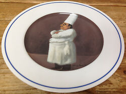 Williams Sonoma Chef What's Cooking Series Guy Buffet Dinner Plate Arms Crossed
