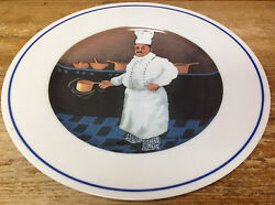 Williams Sonoma Chef Jean Claude Series Guy Buffet 1 Dinner Plate Copper Pot Pan