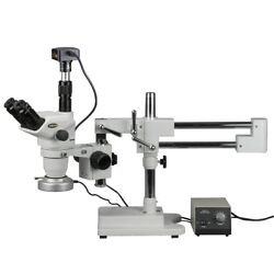 2x-180x Boom Stand Zoom Stereo Microscope With 80-led Light + 18mp Digital Camer