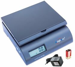 Weighmax 2822-50-gray Digital Shipping Postal Scale With Batteries And Ac Adapte