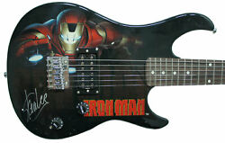 Stan Lee Signed Peavey Marvel Iron Man 3/4 Size Electric Guitar And Certificate