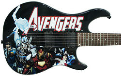 Stan Lee Signed Peavey Marvel Avengers Predator Electric Guitar And Certificate