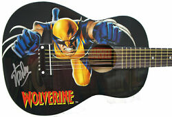 Stan Lee Signed Peavey Marvel Wolverine 1/2 Acoustic Guitar And Certificate