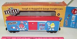 Mth 30-74598 Mandmand039s 4th Of July Boxcar With Blinking Light