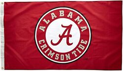 New Ncaa Alabama Crimson Tide Circle A Logo 3 By 5 Foot Flag With Grommets