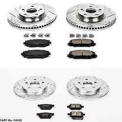 Power Stop K4142 Front/rear Z23 Evolution 1-click Brake Kit For Vibe/matrix