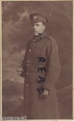 Ww1 Guardsman Coldstream Guards In Greatcoat And Webbing Belt