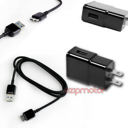 100x 2a Power Adapter+3and039 Micro Usb 3.0 Cable Sync Charger Black Galaxy S5 Note 3