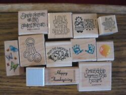 YOU CHOOSE 1 RUBBER STAMP FROM DROP DOWN MENU-VARIETY-ALL 4.99 OR UNDER
