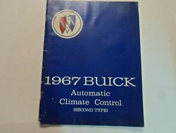 1967 Buick Automatic Climate Control Second Type Shop Manual WATER DAMAGED WORN