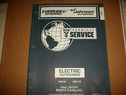 Evinrude Outboard Motor Boat Engine Electric Outboards Illustrated Parts See Pic