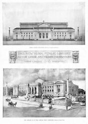 ASTOR LENOX AND TILDEN FOUNDATION HISTORY NEW YORK PUBLIC LIBRARY ARCHITECTURE