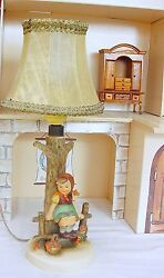 Goebel Hummel Original Lamp And Character Figures Porcelain Showcase Display Set