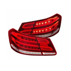 Anzo 321331 Chrome Red Clear Led Tail Light For 10-13 Mercedes-benz E63 Amg