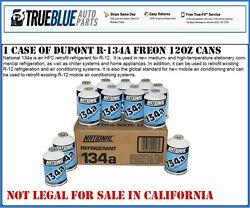 One Case Of NATIONAL R-134aR134a Refridgerant (12) TWELVE 12 OZ CANS PER CASE