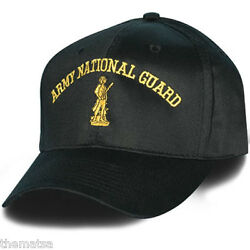 Army National Guard Logo Black Military Embroidered Hat Cap