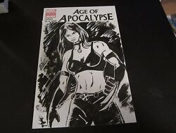 Age Of Apocalypse 1 Blank Sketch Variant With X-23 Inke Sketch By Jay Taylor