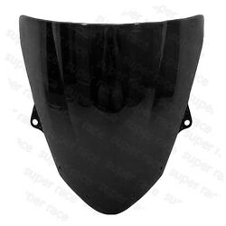 Black Windshield Windscreen For Kawasaki Ninja ZX6R ZX636 2009-2010 11 12 13 14