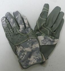 Us Army Acu Flame / Fire Resistant Anvil Gloves Massif Nomex Foliage Grn Xl