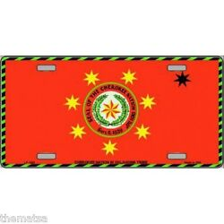 Cherokee Nation Flag Native American Tribe Metal License Plate Made In Usa