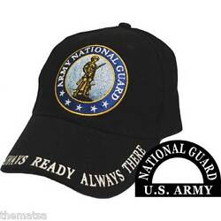 Army National Guard Always Ready Always There Embroidered Black Hat Cap