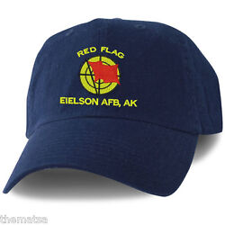 Eielson Air Force Base Red Flag Military Embroidered  Hat Cap