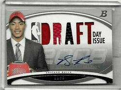 Derrick Rose 2008-09 Bowman Draft Hat,jersey,and Certified Autograph75 Rc Bv300.