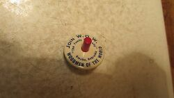 Old W.o.w. Woodmen Of The World Advertising Spinning Top