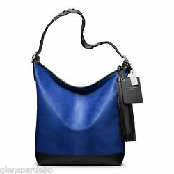 NWT COACH LEGACY PINNACLE COBALT  HAIRCALF LARGE DUFFLE SHOULDER BAG PURSE 19907
