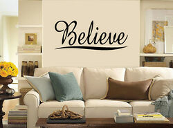 Believe Home Vinyl Sticker Decal For Room Wall Decor Black