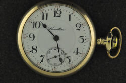 Vintage 21 Jewel 18 Size Hamilton 941 Pocket Watch From 1904 Keeping Time