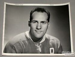 Original Early 50and039s Floyd Curry Mtl Canadiens Photo
