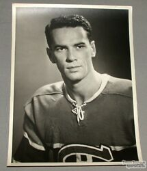 Original Early 1950and039s Bert Olmstead Mtl Canadiens Photo