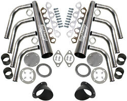 New Lake Style Header Kit With Turnouts,bbf 429-460ci Big Block Ford,3 1/2