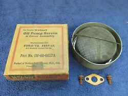 1932-41 Ford V8 Except 60 Hp Oil Pump Screen And Cover Assembly Nos 716