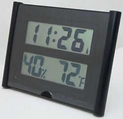 NEW Atomic Time ET 31U Wall Clock Weather Station Digital Temperature Large Font