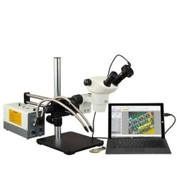 Total 3-300x Zoom Stereo Microscope+boom Stand+150w Cold Light+9m Camera+barlows