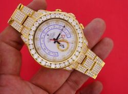 Mens Rolex Yachtmaster II  Watch 116688 29.50 Carat Diamonds All Over Best Deal